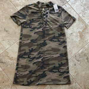 FOREVER 21 Camo T-Shirt Dress NWT